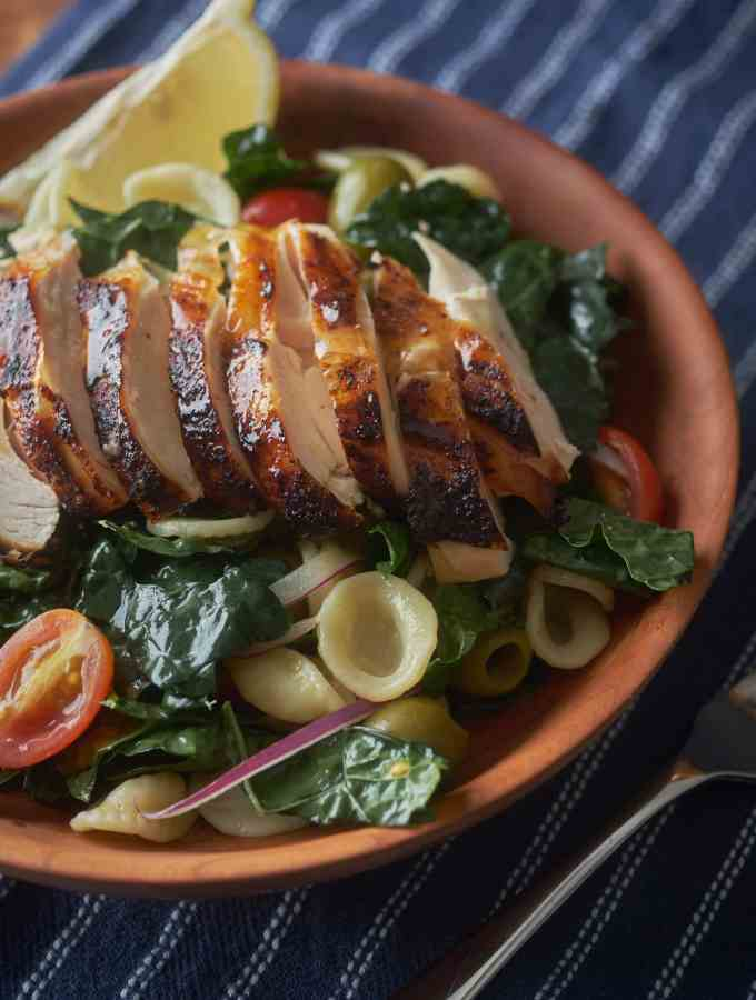 Kale and Roast Chicken Salad