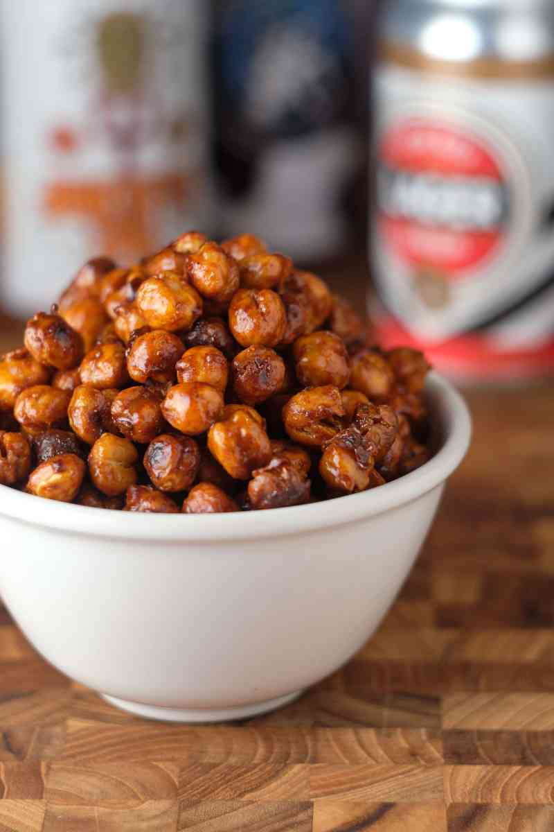 Beer-Honey Roasted Chickpeas