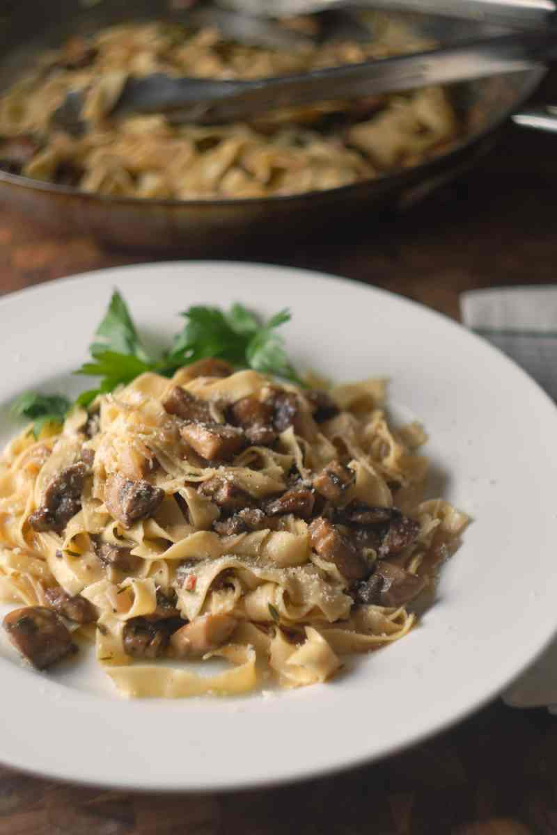 Homemade Pasta with Mushrooms
