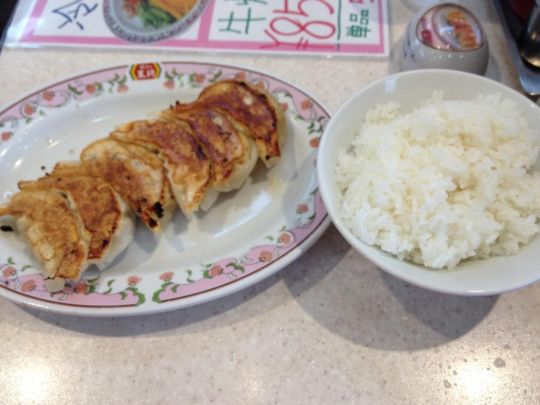 Gyoza no Ōshō: Gyoza + Rice : 409 yen