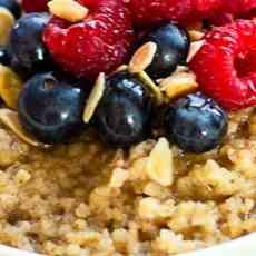 Spiced bulgur wheat porridge
