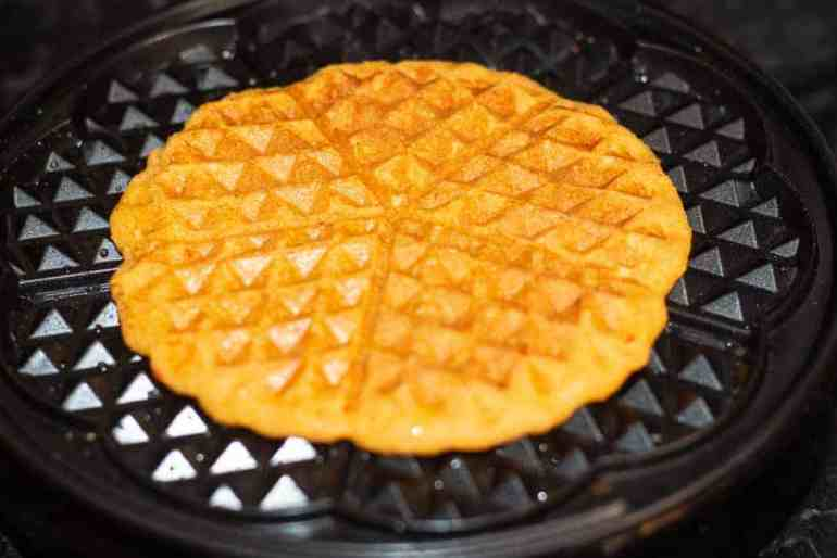 akara in a waffle maker