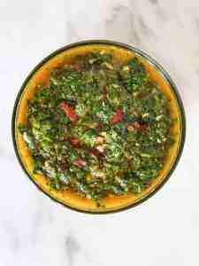 Chermoula sauce in a bowl