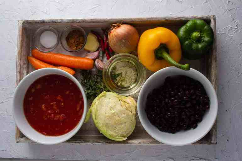Ingredients for Chakalaka