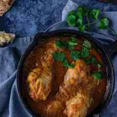 Kuku Paka - East African Chicken Curry in a cooking pan
