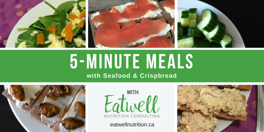 5-Minute Meals with Seafood & Crispbread