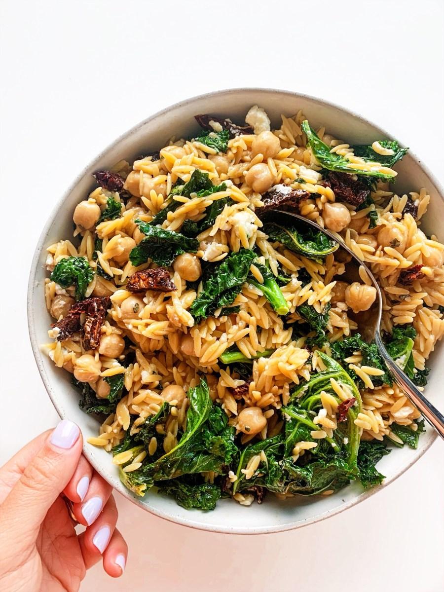 Mediterranean Kale + Grain Salad