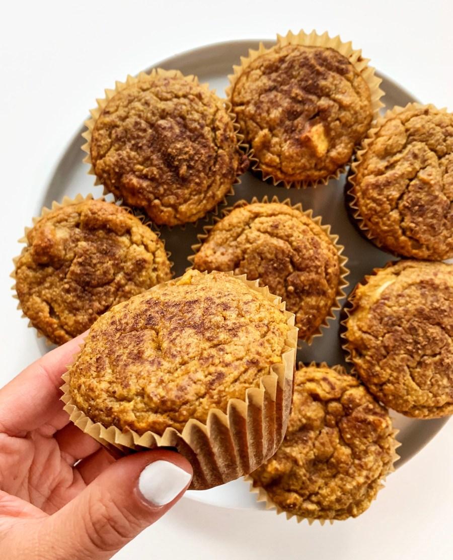 Apple Spice Pumpkin Muffins (Gluten Free)