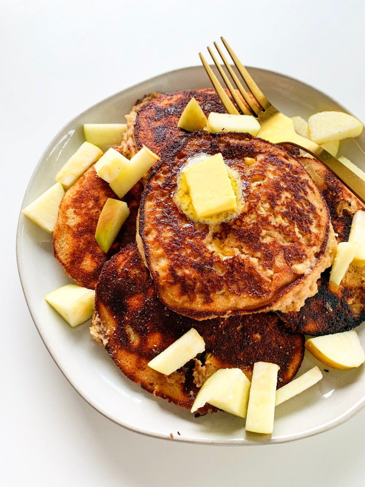 Gluten Free Apple Cinnamon Pancakes