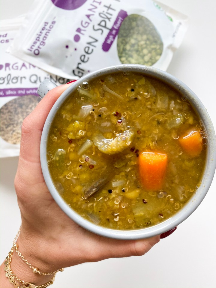 Chunky vegetable Split Pea Soup