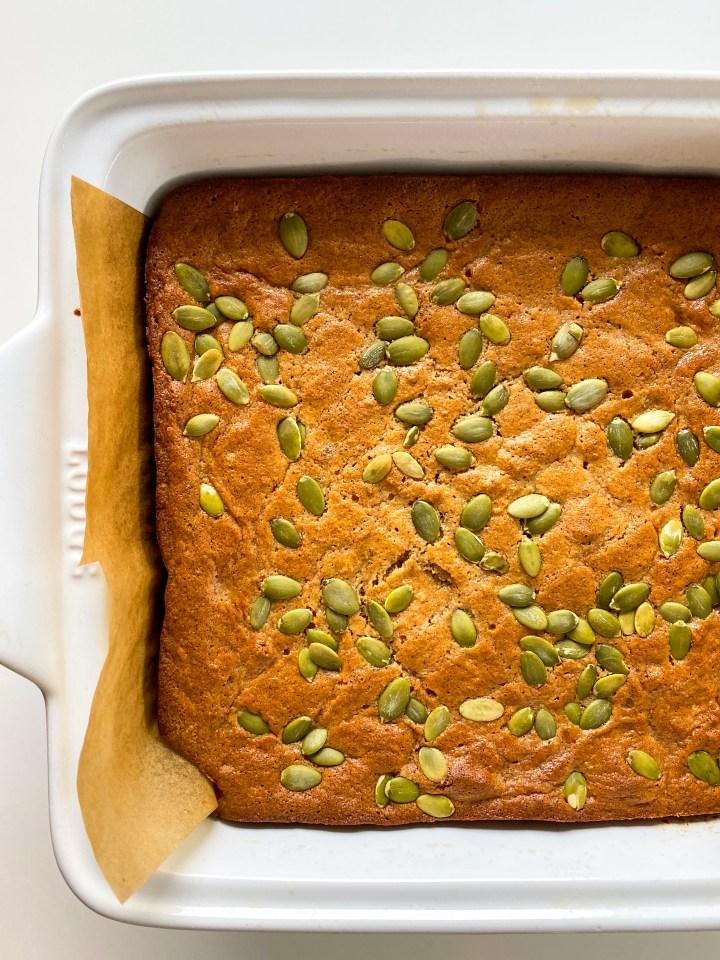 Olive Oil Honey Date Cake