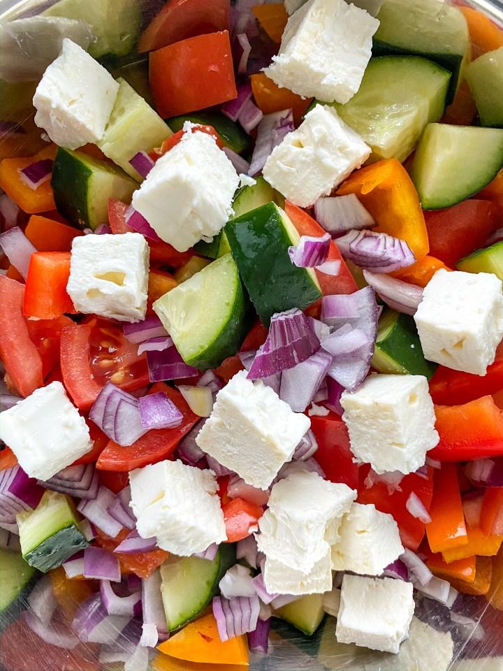 Halibut with Greek Salad