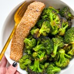 Orange Ginger Sesame Salmon and Broccoli