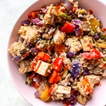 Rainbow Peanut Veggie Stir fry