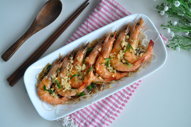 Steamed Prawns w Wine_1