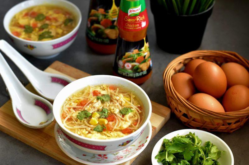 Chicken & Corn Egg Drop Soup