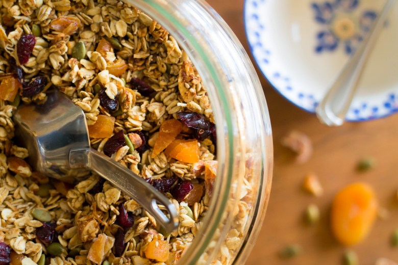 Low fat, low sugar granola. Gluten Free/Vegan