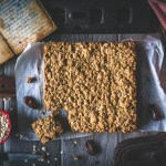 Matrimonial Cake, also known as Date Squares/Bars - a family favorite, made vegan!