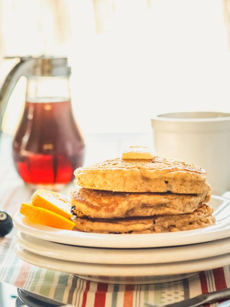 Vegan Pancakes - Whole Grain, Egg-Free, Dairy-Free