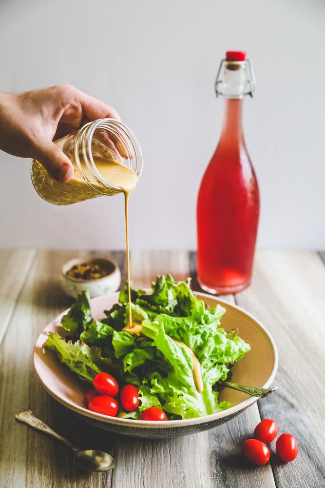Nutritional Yeast Salad Dressing - Low Fat, vegan, tastes like Hollyhock.