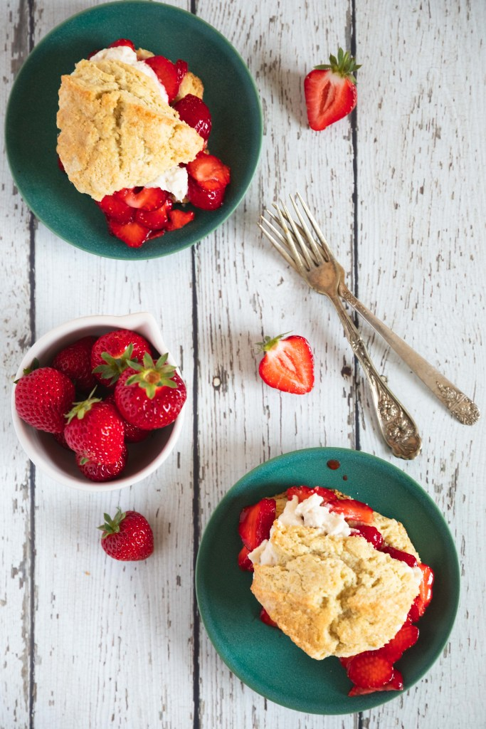 Vegan Strawberry Shortcakes on Farmhouse Scones