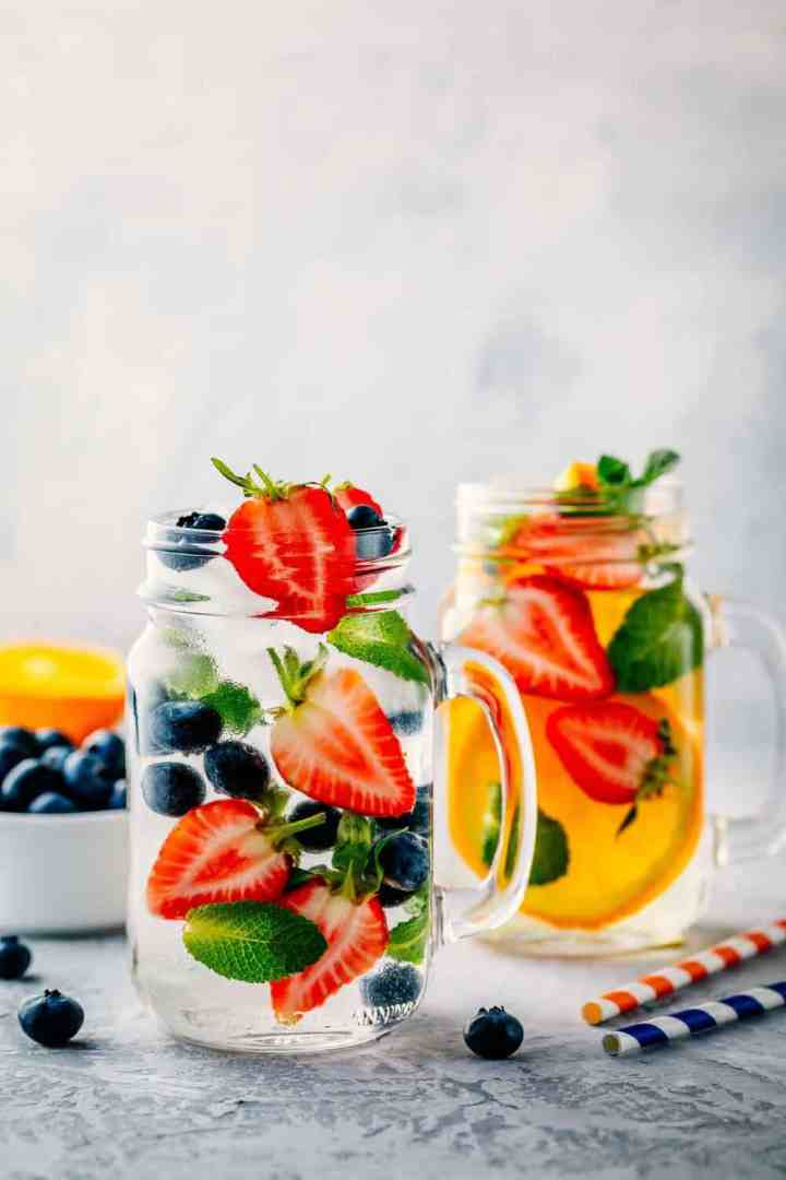 Drinking enough water is one of my top tips for clear skin!