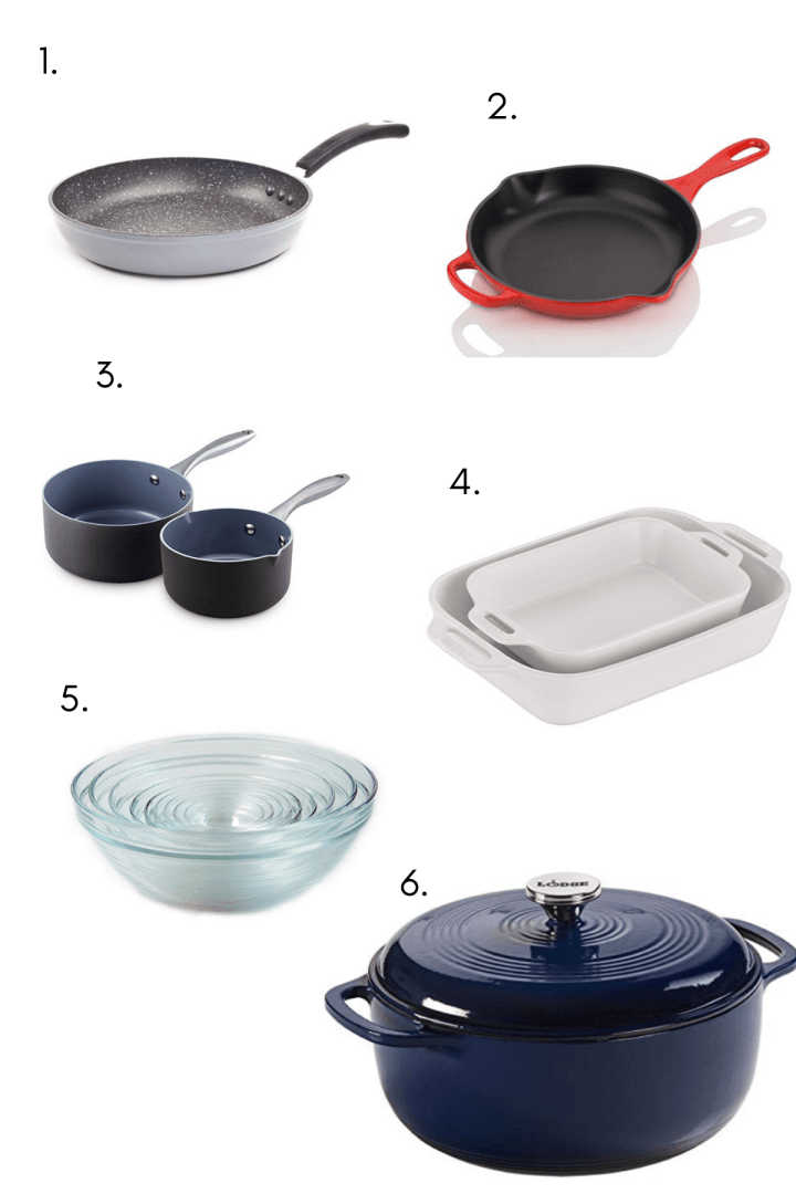 Basic cookware needs that are all kitchen essentials.