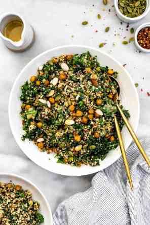 Kale Quinoa Salad & Lemon Dijon Dressing