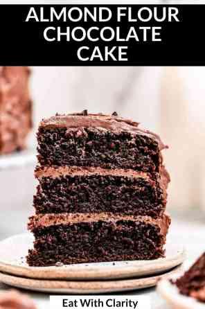 paleo chocolate cake recipe pin