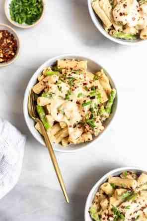 Vegan White Bean & Lemon Asparagus Pasta