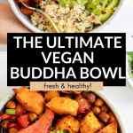 vegan buddha bowl with sweet potato