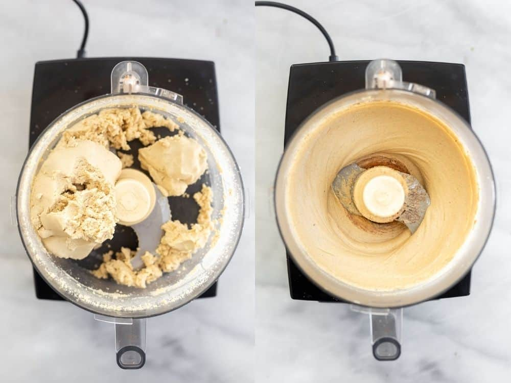 food processor showing how to make the cashew butter