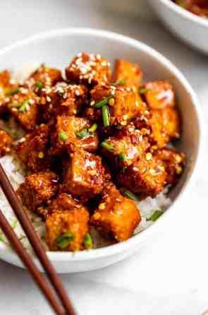 Crispy Baked Teriyaki Tofu