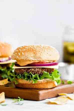 Vegan Black Bean Quinoa Burgers