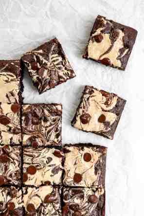 Fudgy Tahini Swirl Brownies