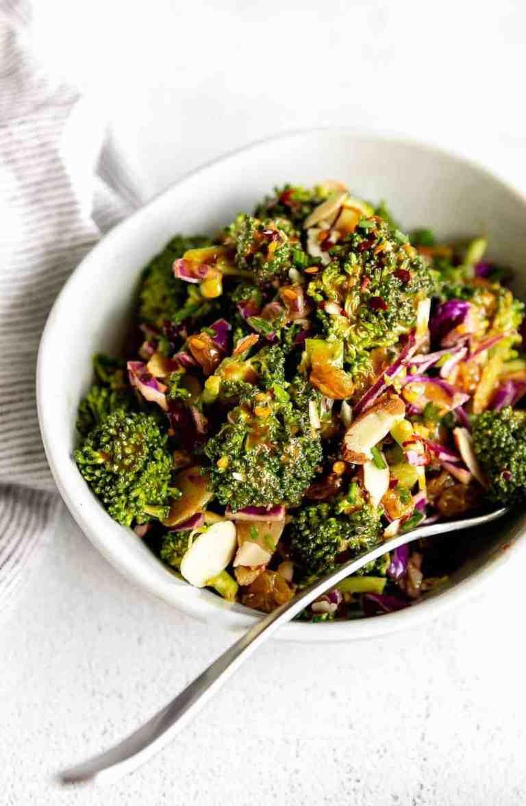 vegan broccoli salad