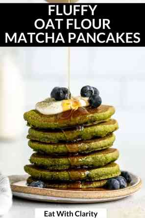 oat flour matcha pancakes