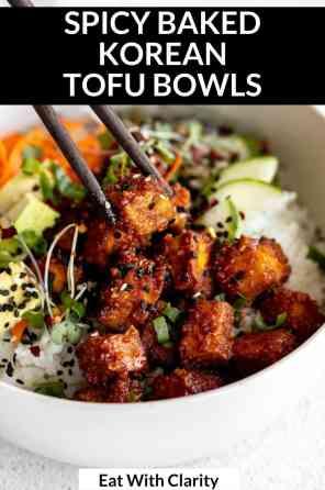 korean tofu buddha bowl