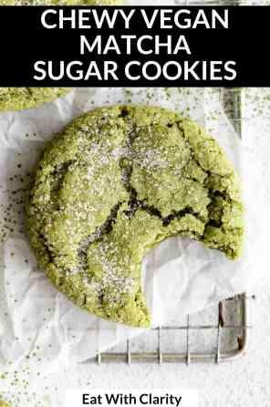 vegan matcha cookies