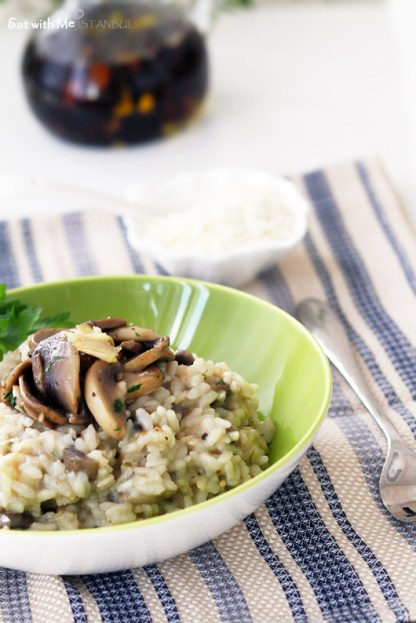 chargrilled eggplant risotto