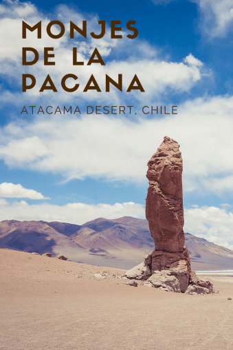 The Monjes de la Pacana in the Atacama Desert of Chile is the perfect spot to enjoy the scenery while having lunch. | www.eatworktravel.com
