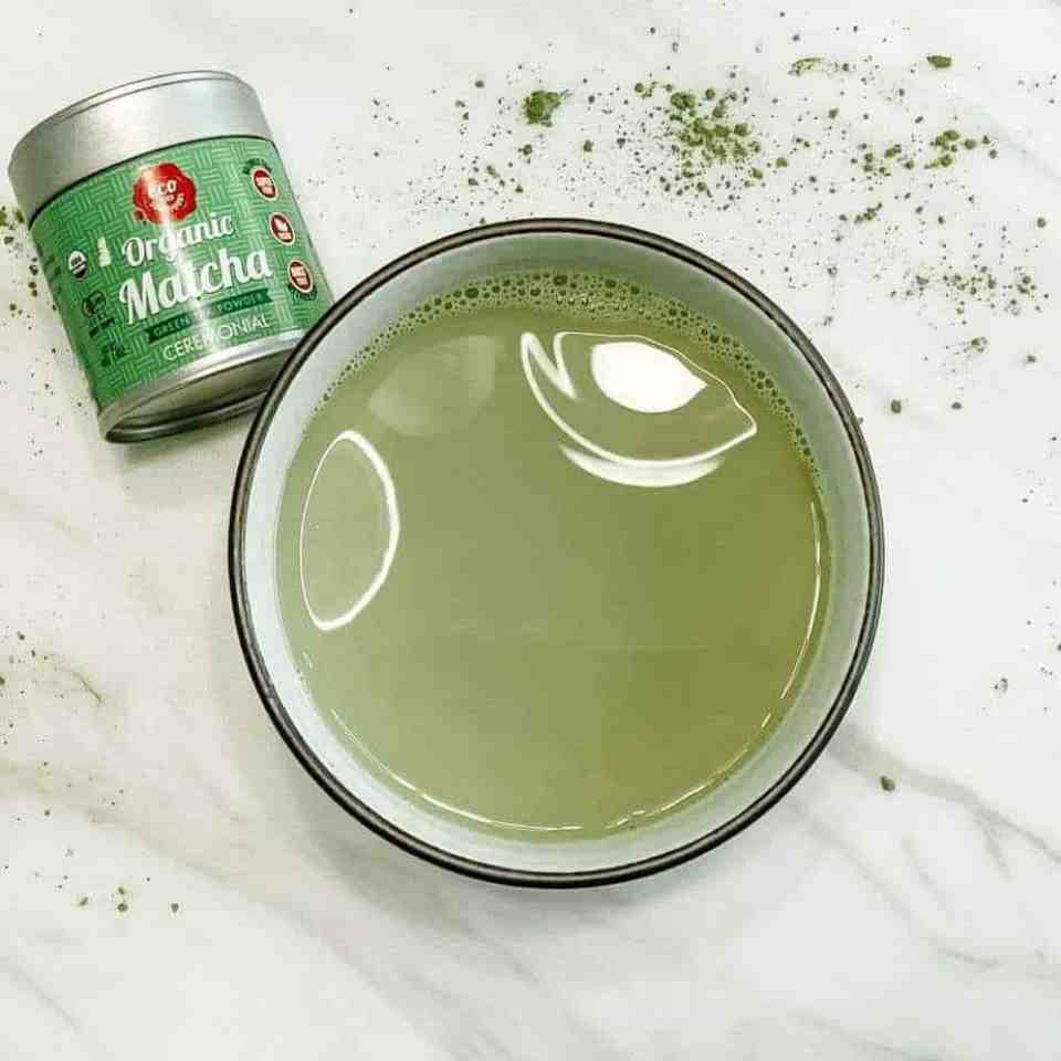 How to make a stress-relieving adaptogenic matcha latte. Adaptogenic latte. Matcha latte recipe.