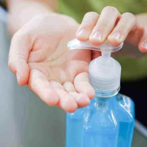 Antibacterial hand sanitizer for cold.