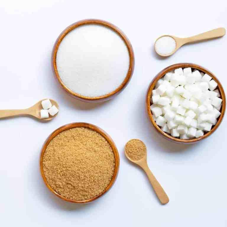 White refined sugar and brown sugar, tips for handling sugar cravings.