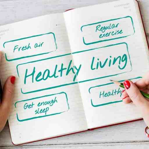 Healthy living is a lifestyle with enough sleep, regular exercise, fresh air, and healthy eating.