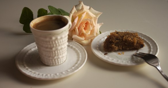 halva with coffee