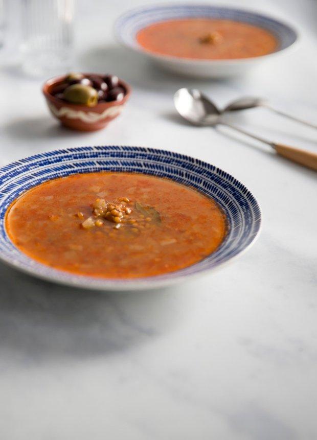 traditional Greek lentil soup