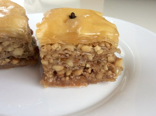 baklava with walnuts and almonds