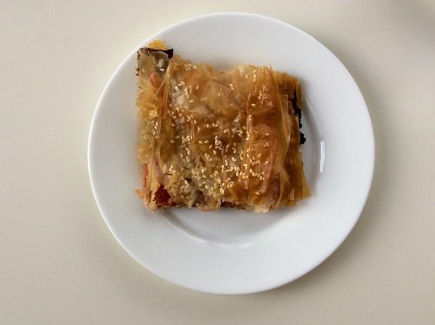 pastourmadopita slice