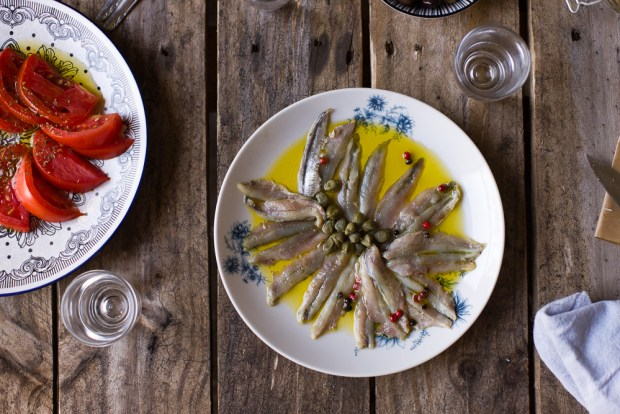 marinated anchovies @Eatyourselfgreek